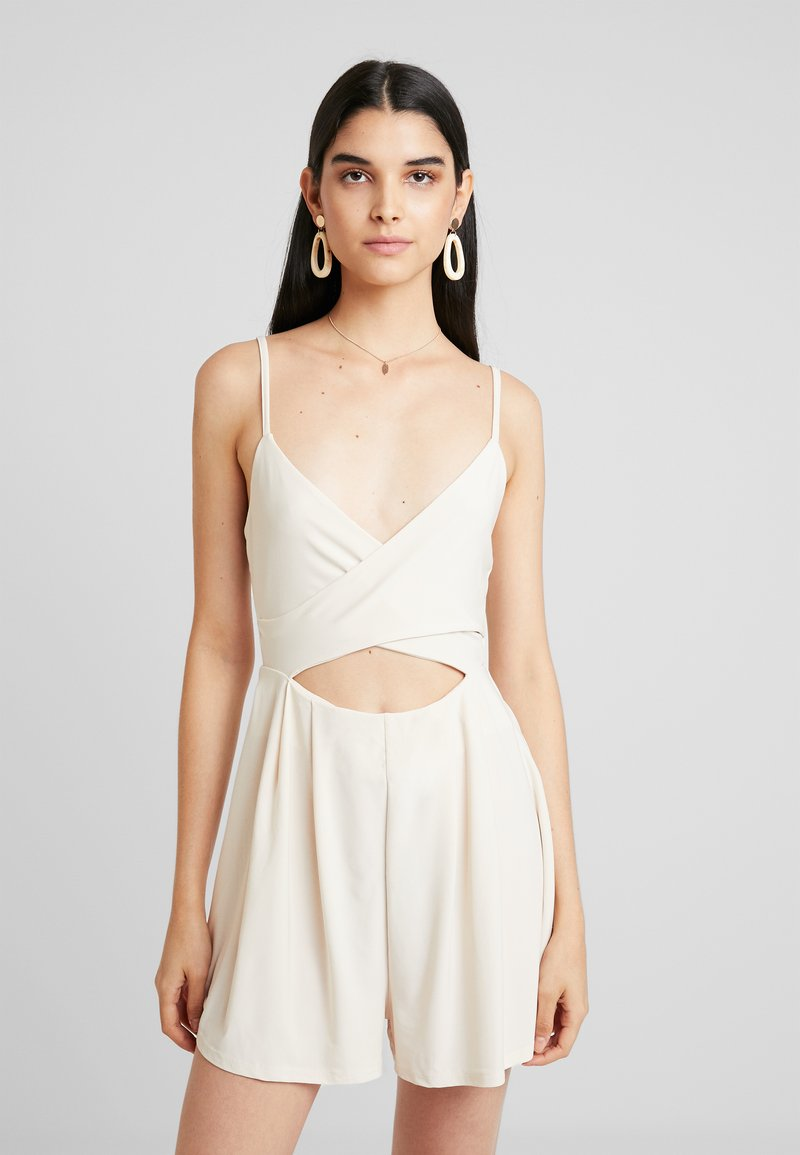Nly by Nelly - CUT OUT PLAYSUIT - Jumpsuit - beige