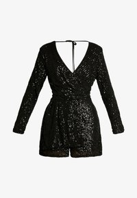 Nly by Nelly - SEQUIN PLAYSUIT - Kombinezon - black - 4