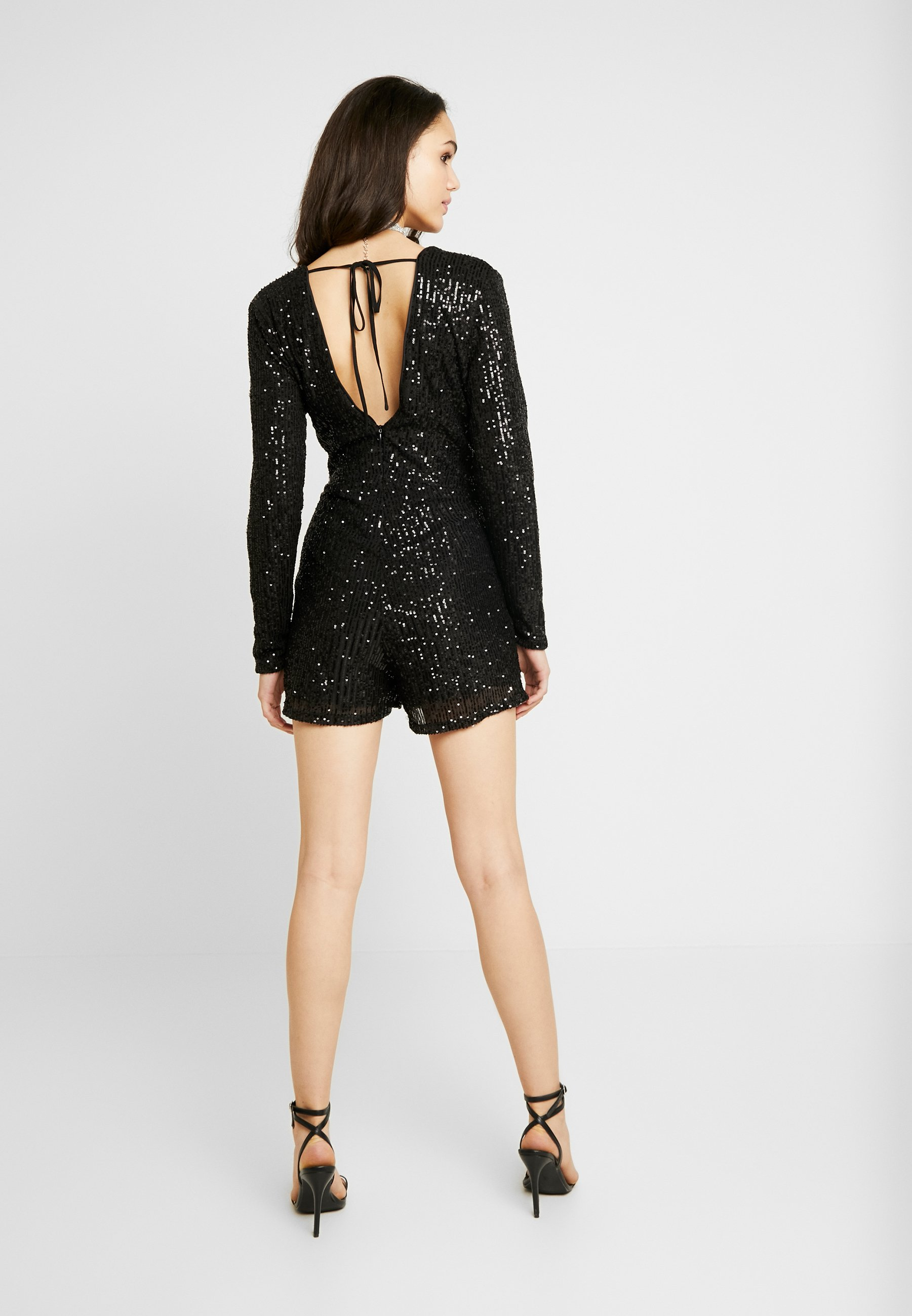 Nly By Nelly Sequin Playsuit - Overall / Jumpsuit Black