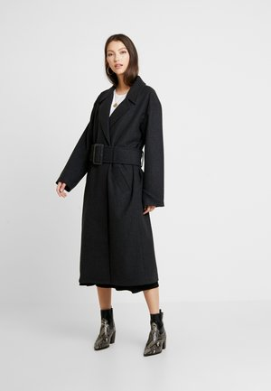 LONG BELTED COAT - Classic coat - grey