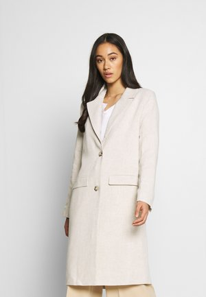 LONG LINE COAT - Abrigo - beige
