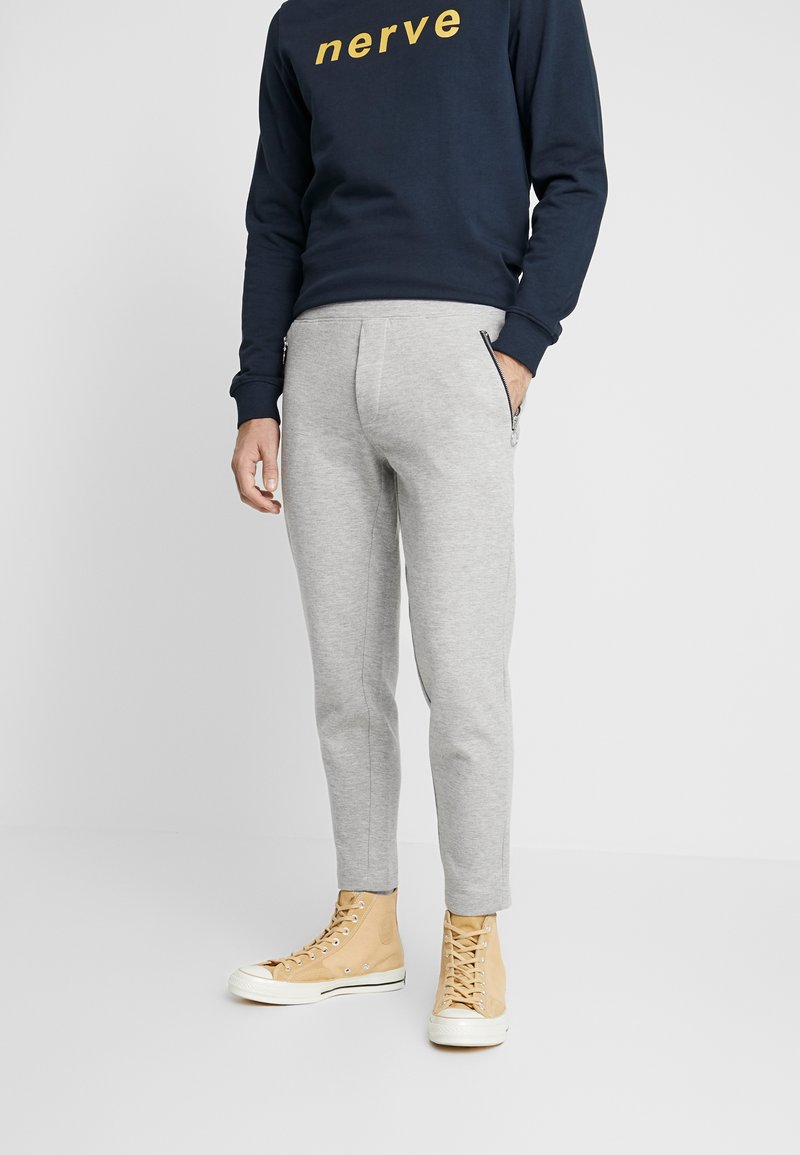 Nerve - NEMIK PANTS - Trainingsbroek - light grey melange