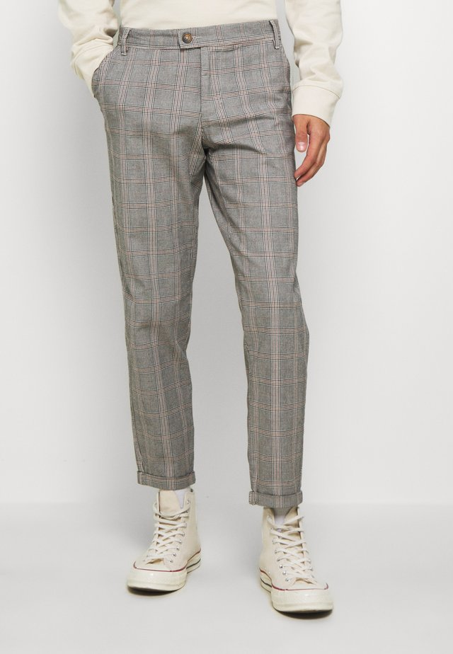 DURAN PANTS - Chinos - grey check
