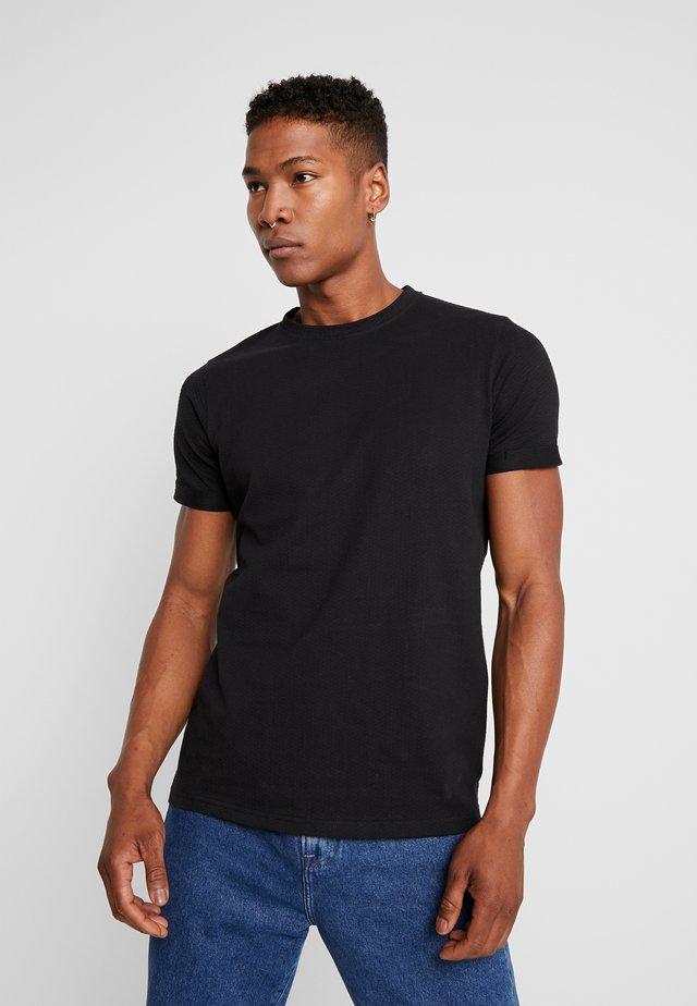 ANDREAS TEE - T-shirt - bas - black