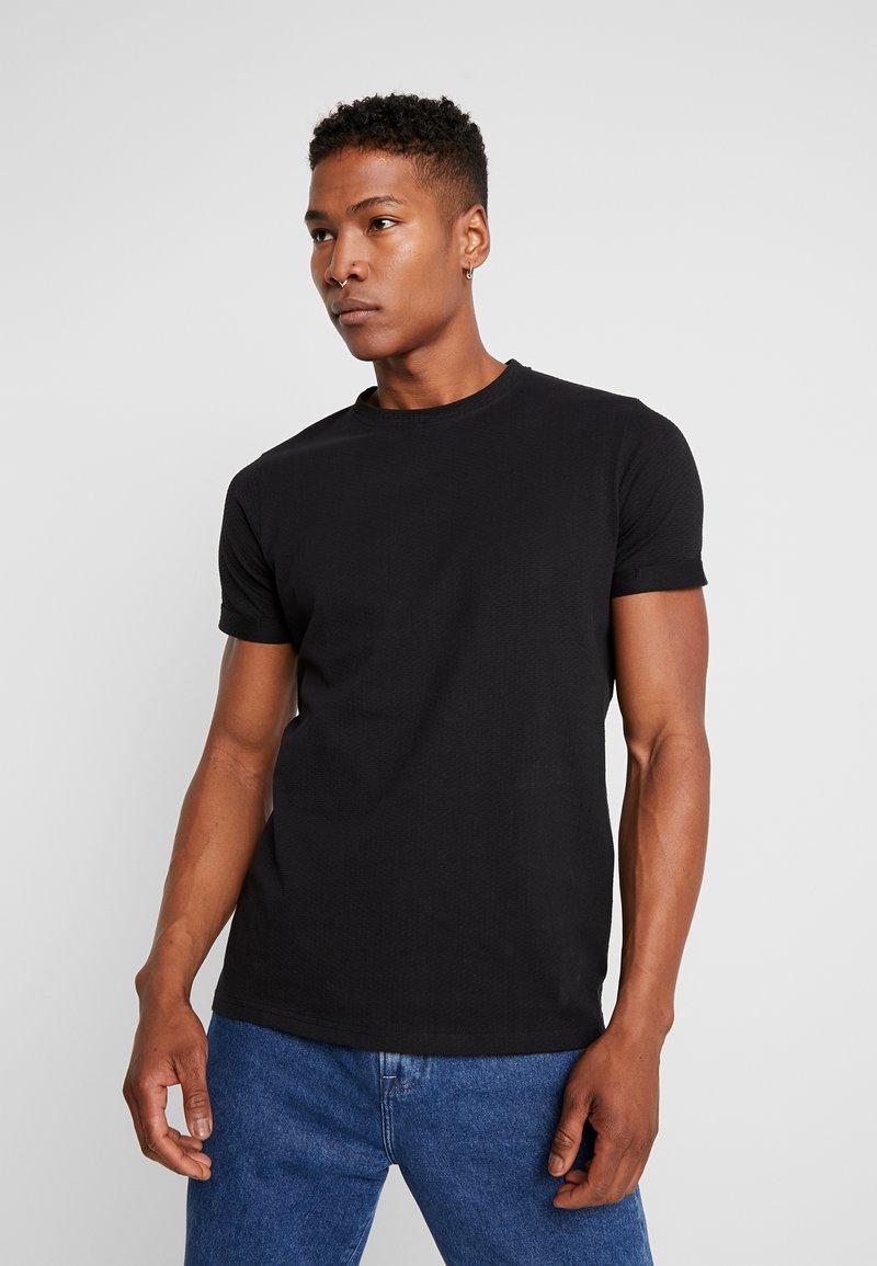 Nerve - ANDREAS TEE - Jednoduché triko - black