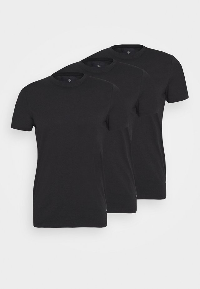 JESSE 3 PACK - T-shirts basic - black