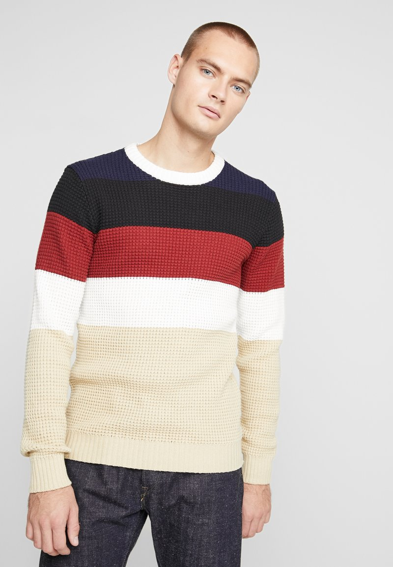 Nerve - NEPOLLE - Stickad tröja - navy