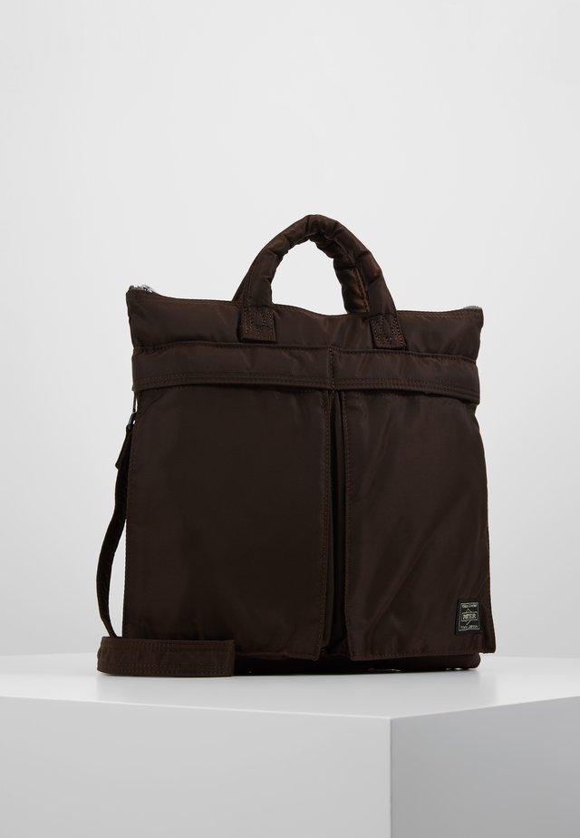 PORTER YOSHIDA X NEXUS VII HELMET BAG SMALL - Handtasche - brown
