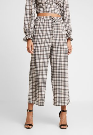 CHECK PRINT TROUSERS - Kalhoty - multi