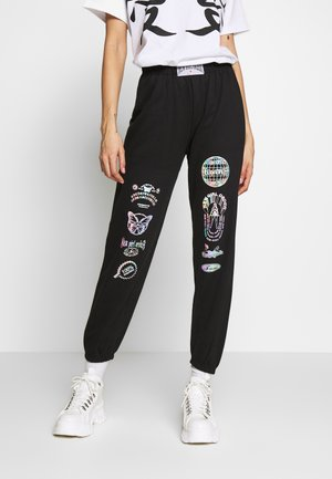 HOLO LOGO - Tracksuit bottoms - black