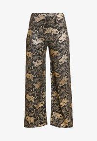 NEW girl ORDER - DRAGON WIDE LEG TROUSER - Pantalon classique - black - 4
