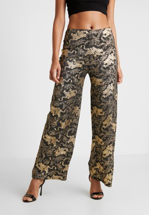 DRAGON WIDE LEG TROUSER - Tygbyxor - black
