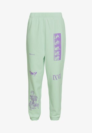 MIXED ART NUMERAL JOGGER - Tracksuit bottoms - mint