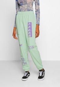 NEW girl ORDER - MIXED ART NUMERAL JOGGER - Teplákové kalhoty - mint - 0