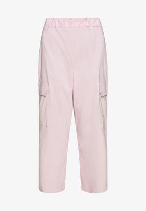 WIDE LEG CARGO TROUSERS - Pantalon classique - pale pink