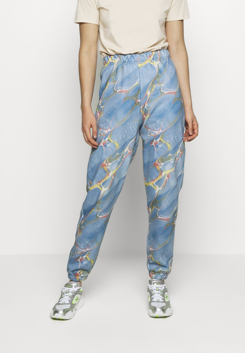 NEW girl ORDER - MARBLE  - Tracksuit bottoms - blue
