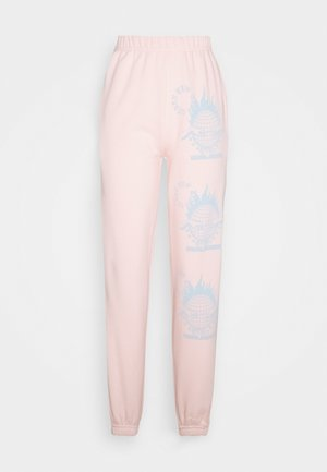 WORLDWIDE JOGGERS - Tracksuit bottoms - pink