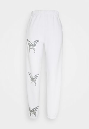BUTTERFLY JOGGERS - Jogginghose - white