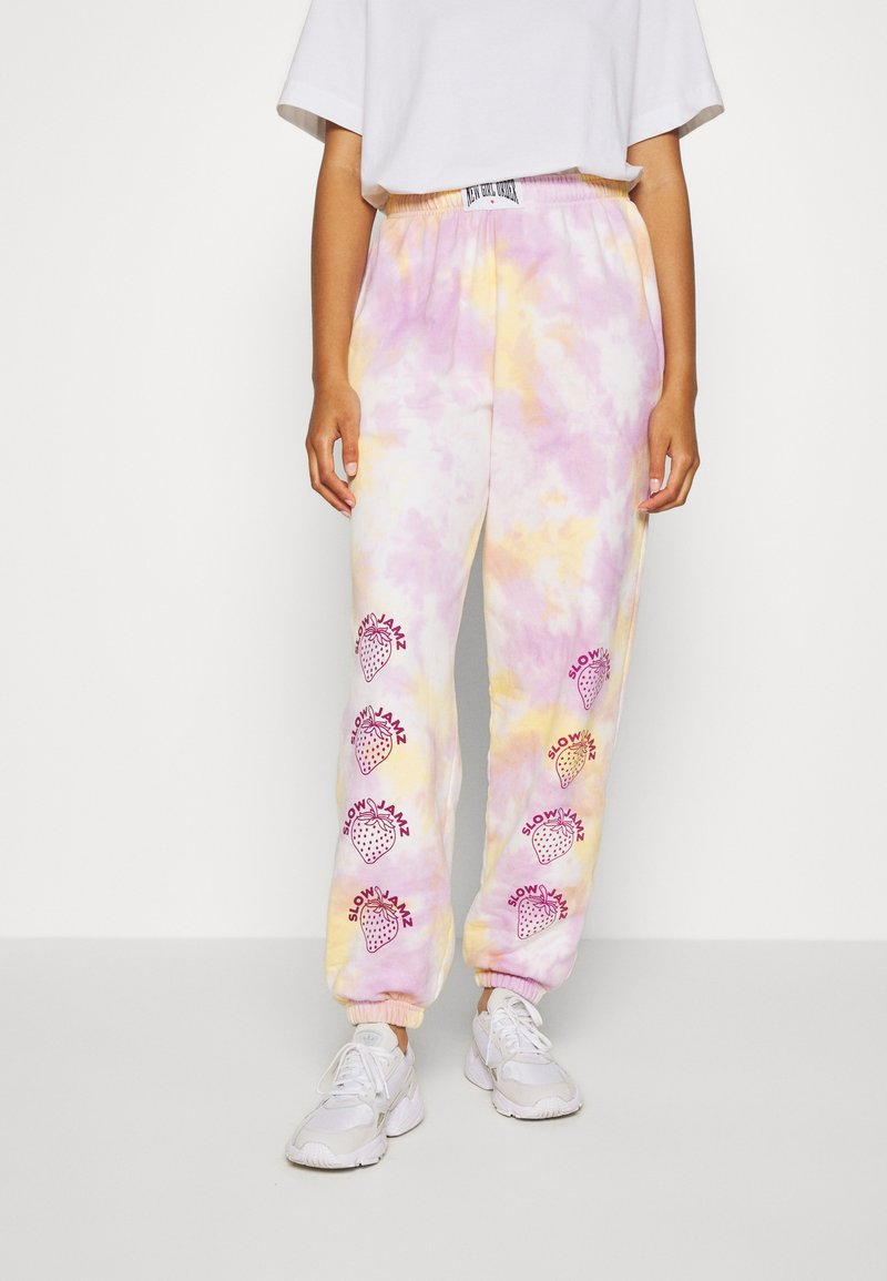 NEW girl ORDER - STRAWBERRY JOGGERS  - Tracksuit bottoms - multi