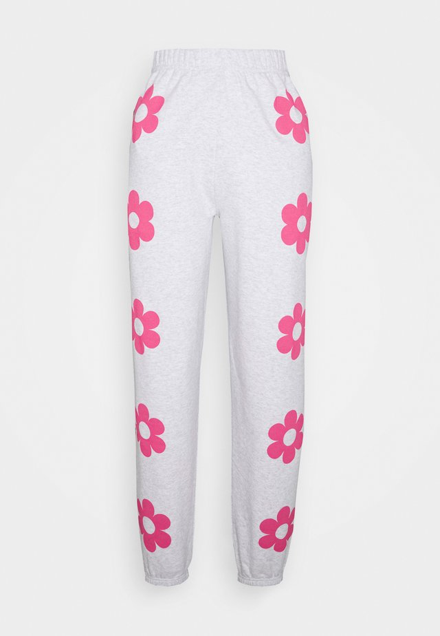 FLOWER POWER JOGGERS - Tracksuit bottoms - grey