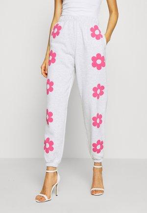 FLOWER POWER  - Teplákové kalhoty - grey