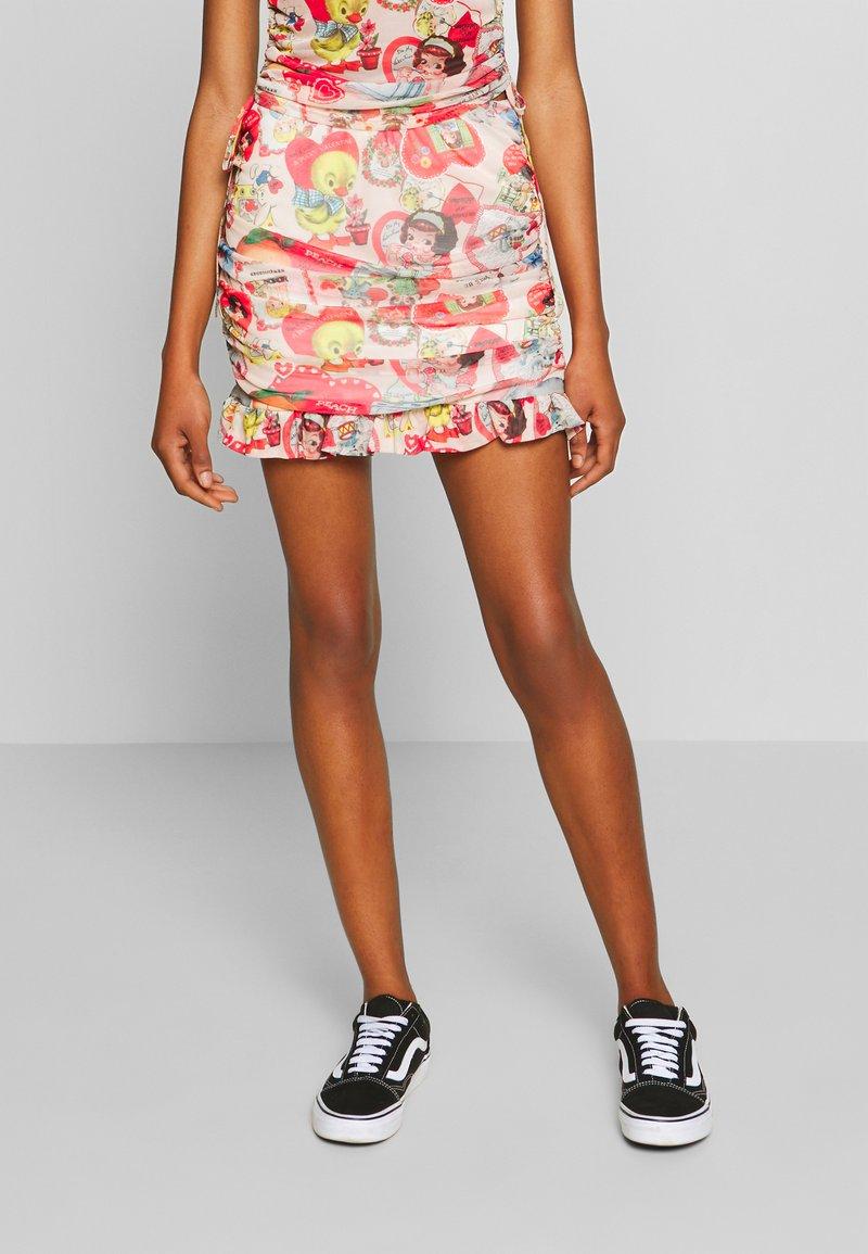 NEW girl ORDER - DOLL SKIRT - Mini skirt - multi