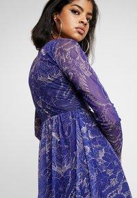 NEW girl ORDER - FLOWER PRINT MIDI SKATER DRESS - Robe d'été - blue - 4