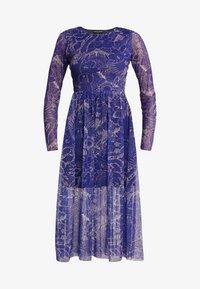 NEW girl ORDER - FLOWER PRINT MIDI SKATER DRESS - Robe d'été - blue - 3