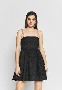 NEW girl ORDER - GLITTER CHAIN STRAP DRESS - Robe de soirée - black - 0