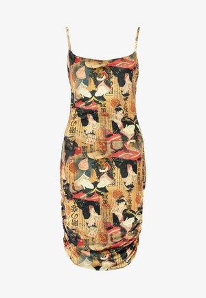 ORIENTAL PRINT DRESS STRAPS - Robe fourreau - multi