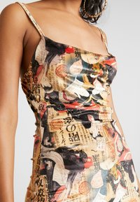 NEW girl ORDER - ORIENTAL PRINT DRESS STRAPS - Pouzdrové šaty - multi - 6