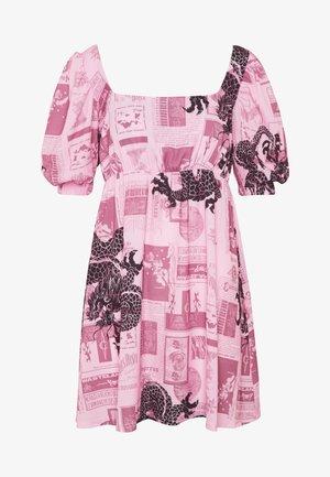 FANTASY MINI SMOCK DRESS - Day dress - pink