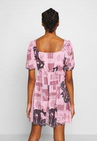 NEW girl ORDER - FANTASY MINI SMOCK DRESS - Day dress - pink - 2