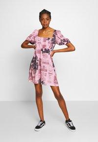NEW girl ORDER - FANTASY MINI SMOCK DRESS - Day dress - pink - 1