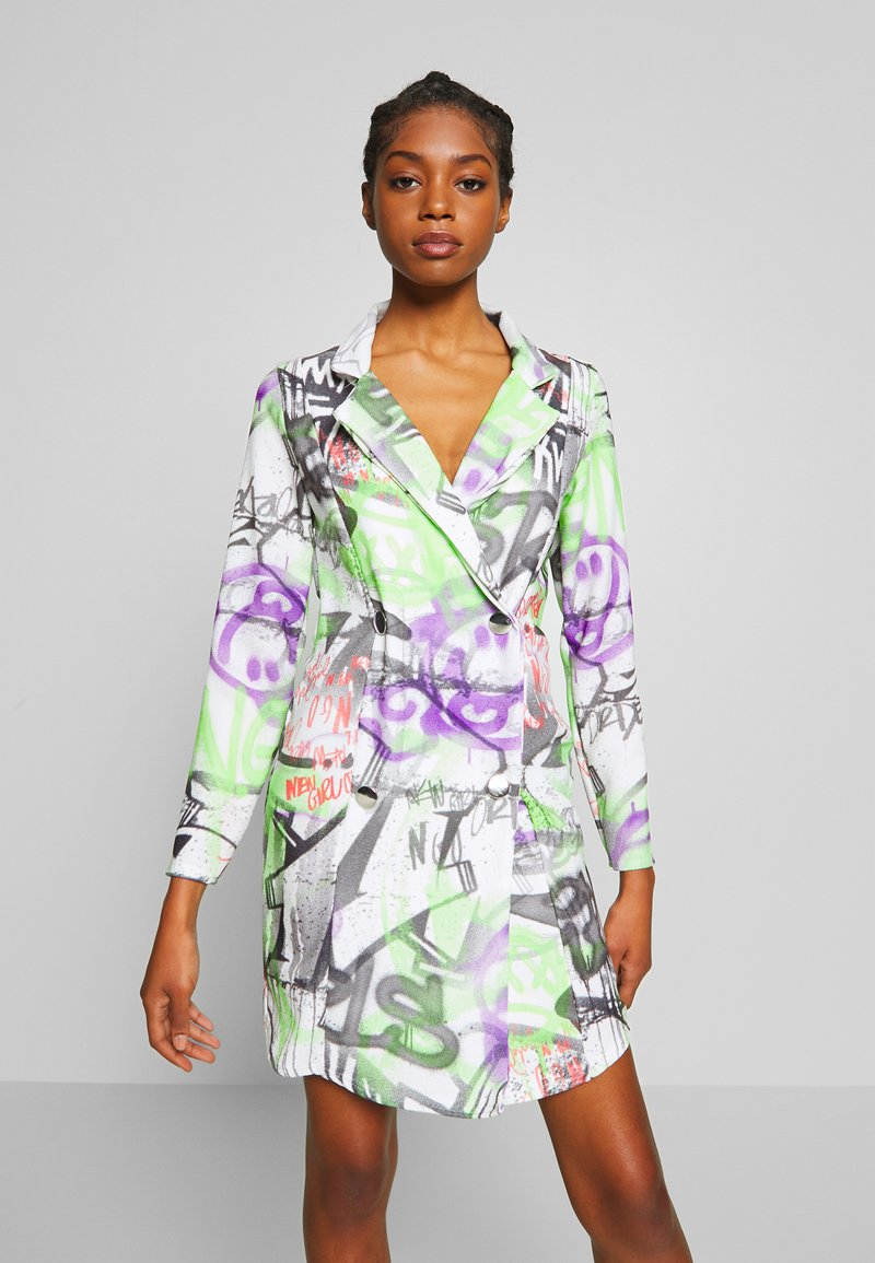 NEW girl ORDER - GRAFITTI BLAZER DRESS - Denní šaty - multi