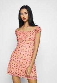 NEW girl ORDER - CHERRY LOLITA DRESS - Denní šaty - pink - 0