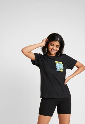 MOTHER EARTH TEE - Triko s potiskem - black