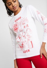 NEW girl ORDER - GOOD LUCK - Pitkähihainen paita - white - 4