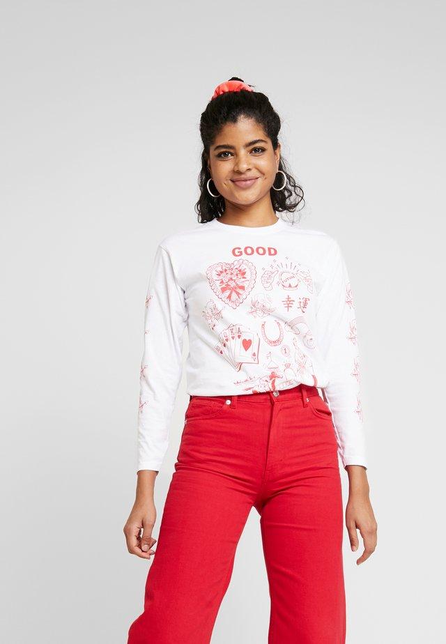 GOOD LUCK - Långärmad tröja - white