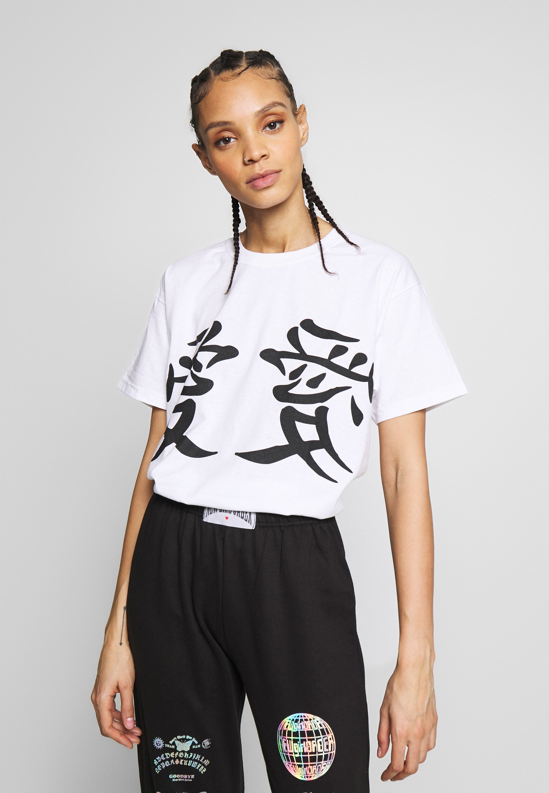 NEW girl ORDER LUCKY DRAGON - T-shirts med print - white