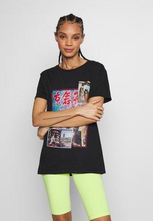 ORIENTAL - T-shirt imprimé - black