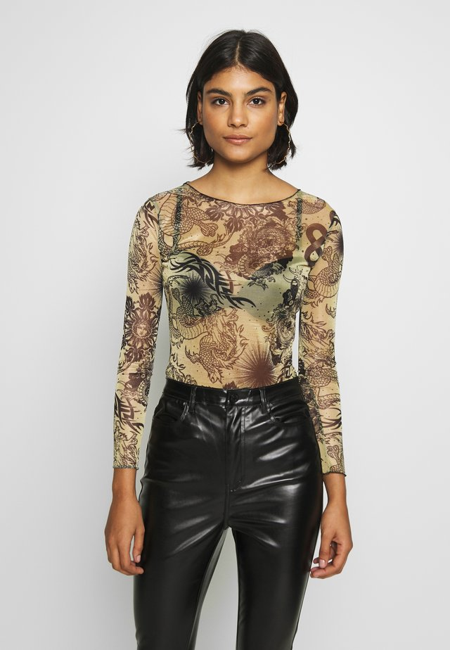 DRAGON GLITTER - Long sleeved top - gold