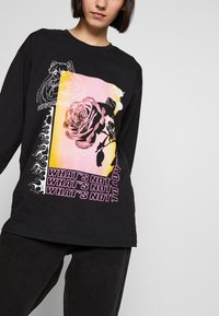 NEW girl ORDER - WHATS NOT FLOWER - T-shirt à manches longues - black - 3