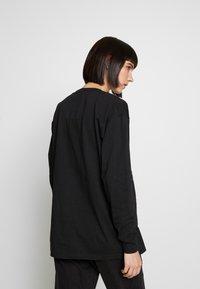 NEW girl ORDER - WHATS NOT FLOWER - T-shirt à manches longues - black - 2