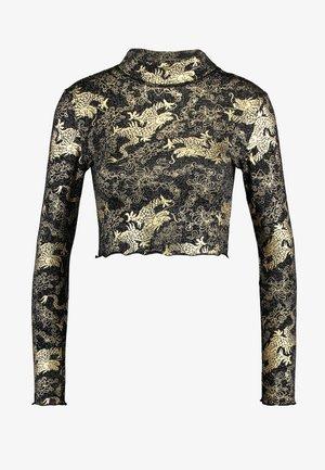 DRAGON LONG SLEEVE - T-shirt à manches longues - black