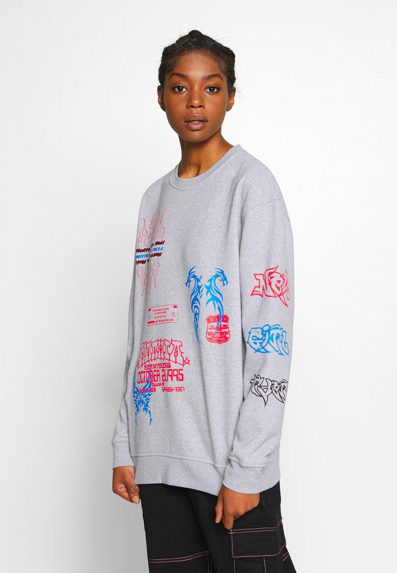NEW girl ORDER - I LOVE - Sweatshirts - grey