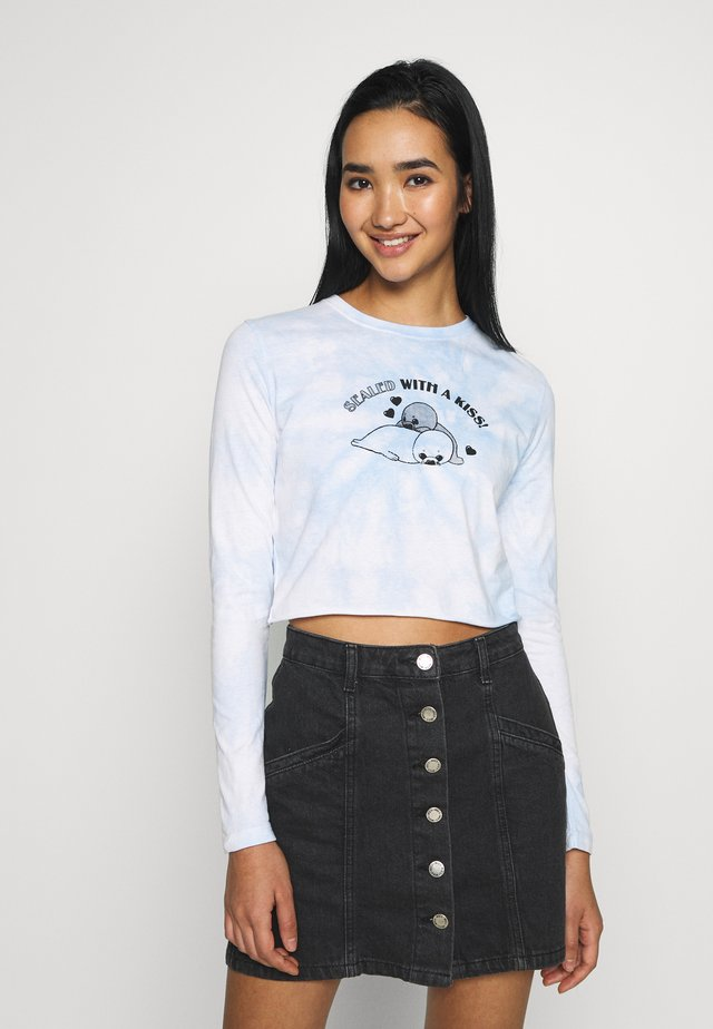SEALED WITH A KISS LONG SLEEVE - Long sleeved top - white