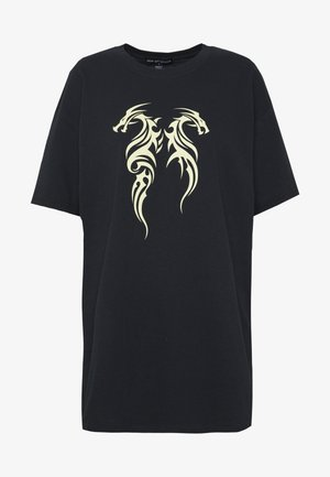 TRIBAL MINI DRAGON TEE - T-shirt print - black