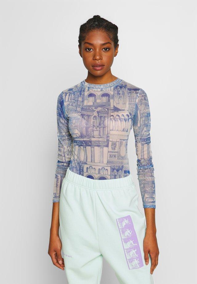 WALLPAPER BODYSUIT - Långärmad tröja - blue