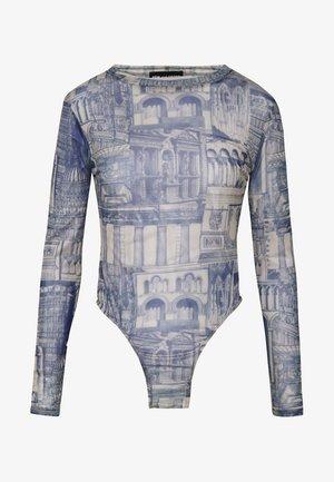 WALLPAPER BODYSUIT - Long sleeved top - blue